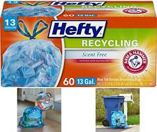 Hefty Trash Bags for The Recycling Bin - Blue, 13 Gallon