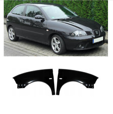 SEAT IBIZA 2002 -2008 FRONT WINGS PAIR LEFT RIGHT NEW PRIMED READY TO PAINT