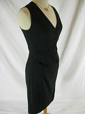 Size N2 10 Marc Cain Black light weight wool designer dress