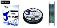 New Daiwa J-Braid X4 Fishing Line Multi Colour 150m Spool - All Breaking Strains