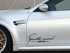 2 x Fiat Sports Mind Aufkleber XL 500 Stilo Brava Freemont Coupe Emblem Logo S