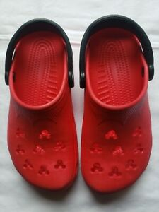 Crocs Red & Black Mickey Mouse Clogs W6-7 M4-5