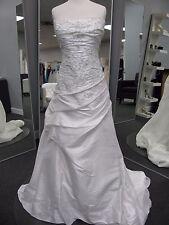 Mori Lee Wedding Dress size 24 WHITE corset GORGEOUS A-line strapless beading!