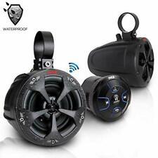 "Pyle PLUTV46BTA 4"" 2-Way Waterproof Bluetooth Speakers w/ Bluetooth Controller"