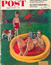 The Saturday Evening Post August 27 1955 Amos Sewell Vintage Americana