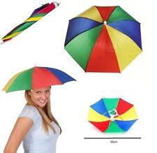 Umberella Hat Rain Sun Protection Headgear Beach Golf Dad Hair Face Dry For All