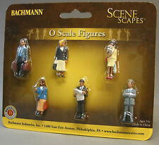BACHMANN O GAUGE STANDING TRAIN PLATFORM PASSENGERS people travelers 33160 NEW