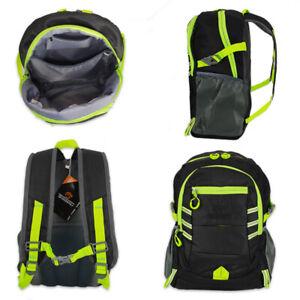 High Visibility Reflective Backpack Rucksack Bag Waterproof Cycling Hiking BLACK