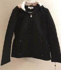 Laundry by Shelli Segal  Women's Black Hooded Winter Coat Jacket Size Sm, NEW!