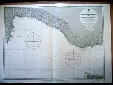 "1971 South TURKEY - GELIDONYA BURNU to ANAMUR Admiralty Map Chart 28"" x 41"" D53"