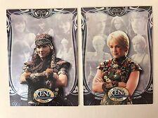 PROMO CARDS: XENA WARRIOR PRINCESS BEAUTY BRAWN: 2 DIFFERENT: #P1 & #P2