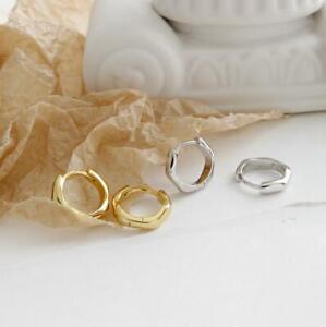 925 Sterling Silver Simple Huggie Hoop Endless Earrings Men Women Jewelry A1635