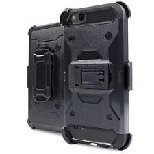 For ZTE Tempo X N9137 / ZTE Avid 4 - Black Hybrid Holster Case Cover + Belt Clip