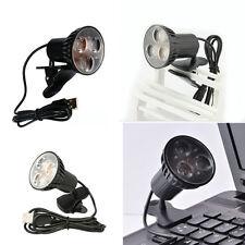 USB 3-LED Table Bureau de Clip-on de lecture ampoule pour ordinateur portable