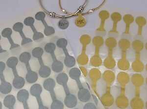 SHARK SKIN Jewelry Price Tags - Dumb Bell Style - Silver or Gold - 70 Tags