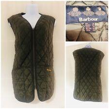 Barbour Gilet Women's Size 18 Designer Olive Green Overcoat Vest Padded Jacket