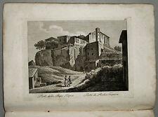 1818c.Inc/Rame.PARTE DELLA RUPE TARPEA par NIBBY - Parboni-Ruga.