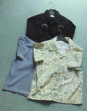 Bundle of 3 boys shirts age 5-6, 1 short and 1 long sleeved shirt and a T-shirt