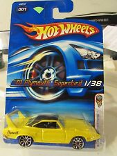 Hot Wheels '70 Plymouth Superbird 2006 First Editions #001 Yellow