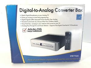 RCA Digital to Analog Converter Box TV  STB7766C Pass Through Over Air NEW