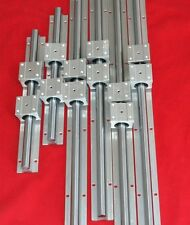 3set linear slide guide rail SBR12-200/16-400/20-600mm+12sbruu bearing block CNC