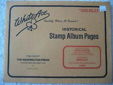 "1990 WHITE ACE STAMP ALBUM SUPPLEMENT "" USR-BL21 "" USA REGULAR ISSUE BLOCKS"