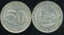 BOLIVIE   50 centavos 1974  ( bis )