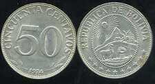 BOLIVIE   50 centavos 1974