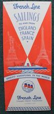 FRENCH LINE CGT ART DECO OCEAN LINER SAILING BROCHURE FEBRUARY 1930
