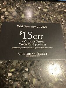 Victoria Secret Coupon $15 Off When YOU USE YOUR VS CREDIT CARD EXPIRES 11/21/20