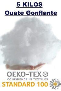Ouate de Rembourrage Fibre Polyester Synthétique Classique Lavable - Sac 5 Kg