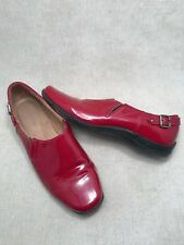 Naturalizer- Red Patent Slip On Casual Square Toe Loafer- Size 10M