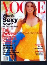 Cindy crawford en juillet 1994 vogue magazine cover monté imprimer. free uk post.