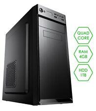 PC DESKTOP COMPUTER COMPLETO ▬ QUAD-CORE ▬ RAM 4GB ▬ HDD 1TB ▬ DVD-RW ▬ WINDOWS