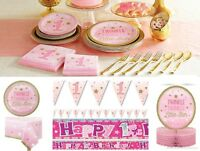 Twinkle Twinkle Little Star Pink One Little Star Girl Birthday Party Decoration