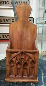 Lovely Very Rare Vintage Brown Wooden Handmade Candle Holder SU9