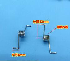 Wire Dia 1.4mm OD 10mm 5 Coils Torsion Spring  2pairs(4pcs)