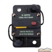 12V 24V Dual Battery Circuit Breaker 30AMP Waterproof IP67 Manual Reset Fuse