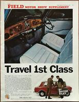BMC Riley Elf Mk III The Elegant British Super Mini Travel 1st Class Advert 1967