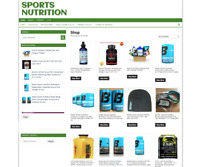 FULLY STOCKED SPORTS NUTRITION UK WEBSITE WITH ONE YEARS HOSTING + DOMAIN