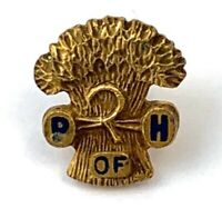 The National Grange of the Order of Patrons of Husbandry PIN SCREW BACK VINTAGE
