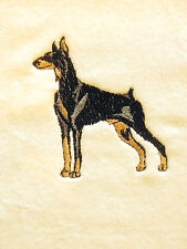 Doberman Pinscher, Hand Towel, Embroidered, Custom, Personalized, Dog, Dobe