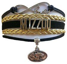 University of Missouri Mizzou Tigers College Infinity Bracelet Jewelry Apparel