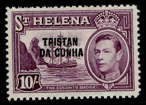 TRISTAN DA CUNHA QEII SG12, 10s purple, M MINT. Cat £60.