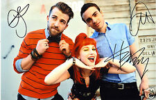 PARAMORE ENTIRE GROUP AUTOGRAPH SIGNED PP PHOTO POSTER