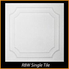 Ceiling Tiles Glue Up Styrofoam 20x20 R8 White Pack of 8