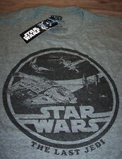 VINTAGE STYLE STAR WARS THE LAST JEDI MILLENIUM FALCON T-Shirt LARGE NEW w/ TAG