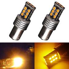 2Pcs Amber Orange 1156-2835 15-SMD BA15S P21/15W BA15s LED Bulb Signal Lights US