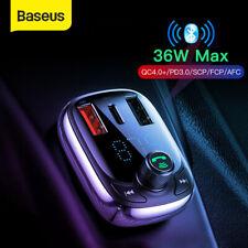 Baseus Bluetooth5.0 Wireless Car FM Transmitter MP3 Player Handsfree USB Charger