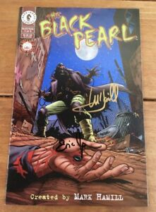 BLACK PEARL #1 SIGNED BY MARK HAMILL (STAR WARS) & ERIC JOHNSON 1996 DARK HORSE